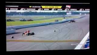IndyCar Series Fatal Crash Sage Karam & Justin Wilson @ Pocono Raceway