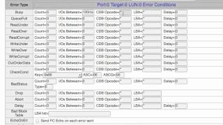 Setting Lun Error Conditions Using the SANBlaze VirtuaLUN Target