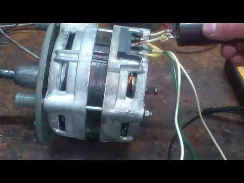Как подключить двигатель от стиральной машины с 3 выводами