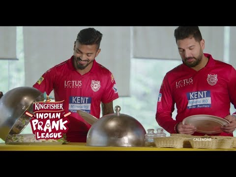 The Kings XI Punjab join the Kingfisher Indian Prank League | Head on a Platter Prank