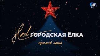 Новгородская ёлка. Прямой эфир с Софийской площади 1.01.2018 г.
