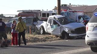 One person arilifted after traffic accident in Hesperia