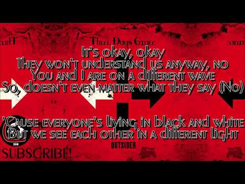 """Three Days Grace - Infra-Red (LYRIC VIDEO) [From the """"Outsider"""" album 2018]"""