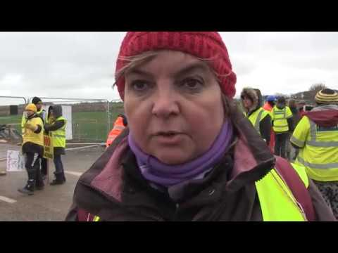 Protestors Pushed and Dragged at Preston New Road Fracking Site