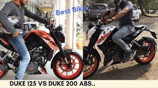 Duke 125 vs Duke 200 ABS.
