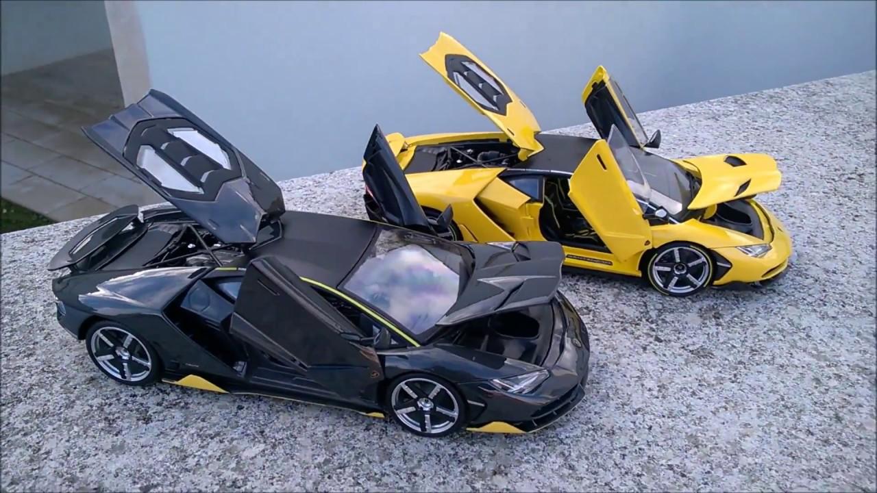 Model Car Comparison Lamborghini Centenario Maisto Exclusive