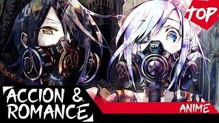 Los 5 mejores animes de accion y romance  recomendados | top 5 en espaÑol | #2 | 2016