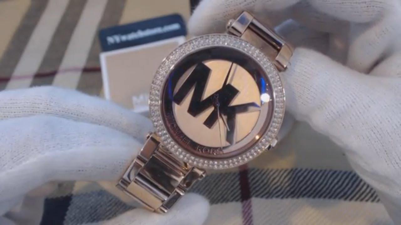 f15ff352d3f6 Women s Rose Gold Michael Kors Parker Glitz Watch MK5865 - YouTube