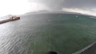 Bacoli - Baia Vento forte con grandinata e pioggia