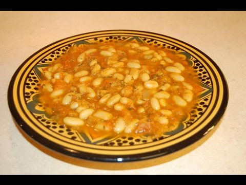 052 - Loubia - Moroccan White Beans - Cooking with Alia