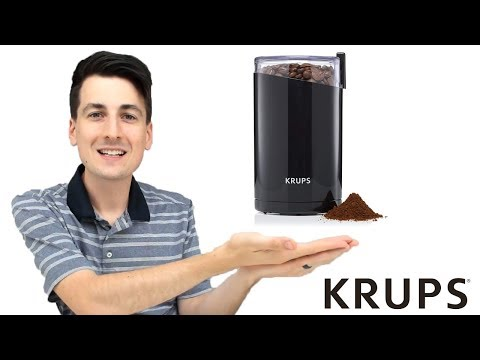 KRUPS F203 Electric Spice and Coffee Grinder w/ Stainless Steel Blades