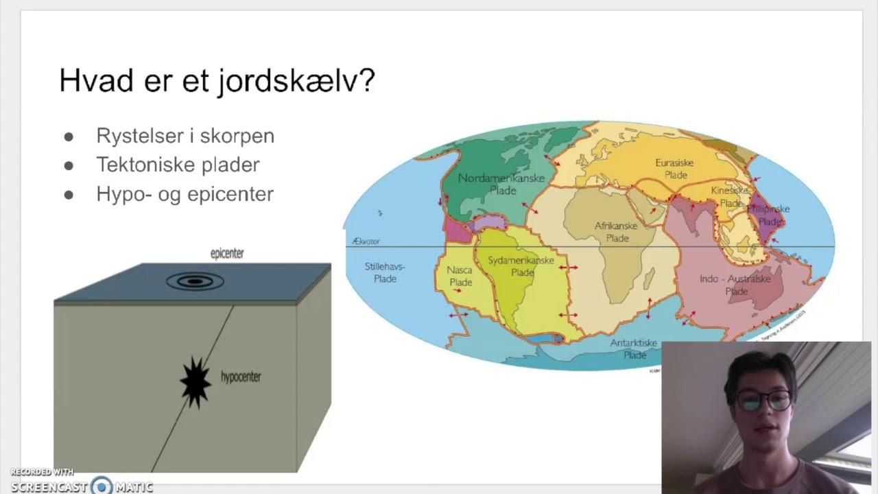 Screencast vulkaner/jordskælv