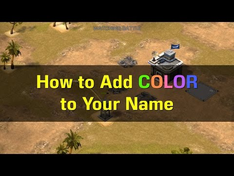 Empires & Allies:  How to Add Color to Your Name