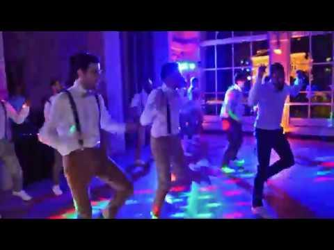 AMAZING GROOMSMEN & SURPRISE NEWLYWEDS DANCE  FRENCH BEAUJOLAIS WEDDING DANCE