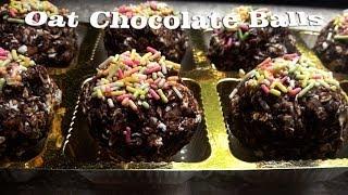 Oat Chocolate Balls No Bake Cookies