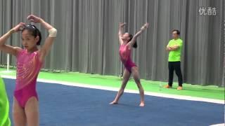 Tan Jiaxin FX training 2014 Worlds Nanning Day 2