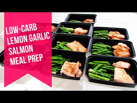 Low Carb Meal Prep Lemon Garlic Salmon And Asparagus Youtube