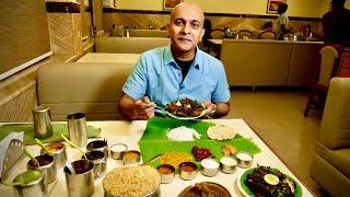 Tasting BHEEMA'S Most Popular ANDHRA VEG MEALS   MUTTON BIRYANI   Chilli Chicken   KITCHEN TOUR!