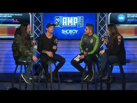 Louis Tomlinson and Steve Aoki interview for 92.3AMP