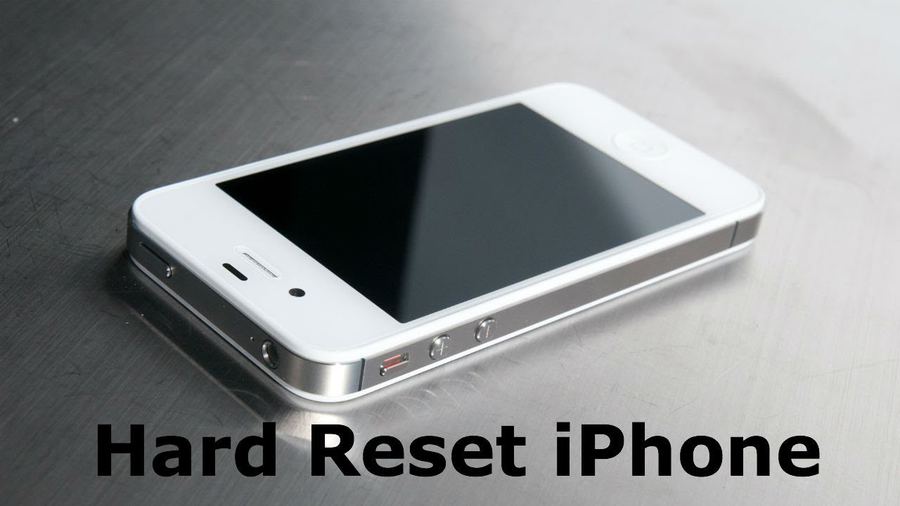 hard reset iPhone on