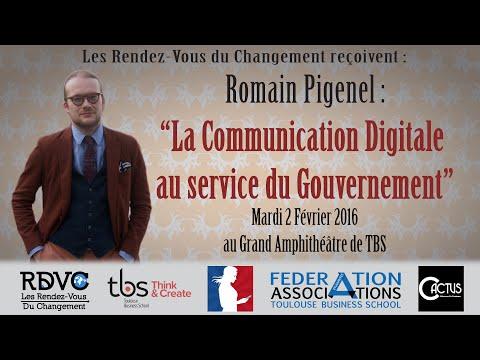 Conférence de Romain Pigenel à Toulouse Business School - Les Rendez-Vous du Changement (RDVC)