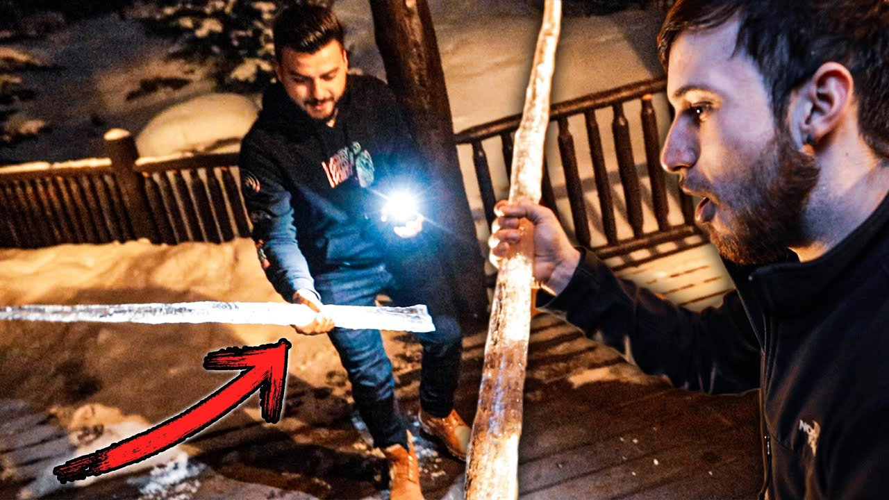 I Surprised Them With GIANT Icicles!