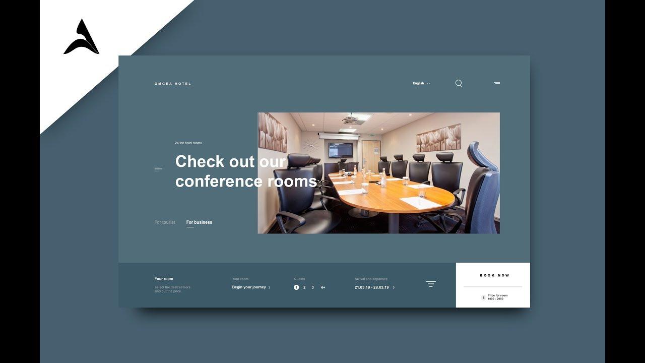 Design page site web hotel  -  photoshop