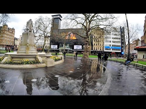 London Walk from Trafalgar Square to Leicester Square and the Church of St Martins in the Field