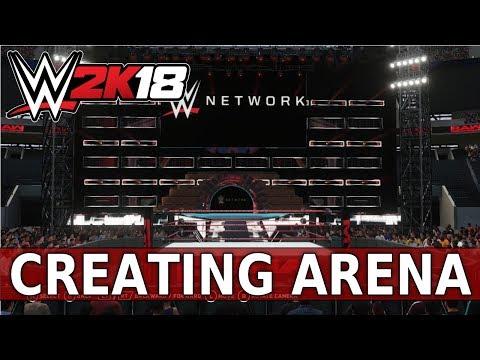 WWE 2K18 Create an Arena: Huge Raw Arena!