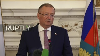 Live: Yakovenko holds press conference in London