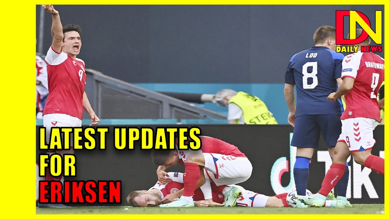 Christian Eriksen sends message to Danish teammates from ...