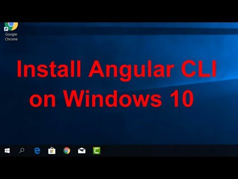 Tutorial  - How to download and install Angular CLI on Windows 10 thumbnail