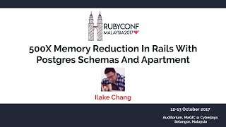 500X Memory Reduction In Rails With Postgres Schemas And Apartment - RubyConfMY 2017