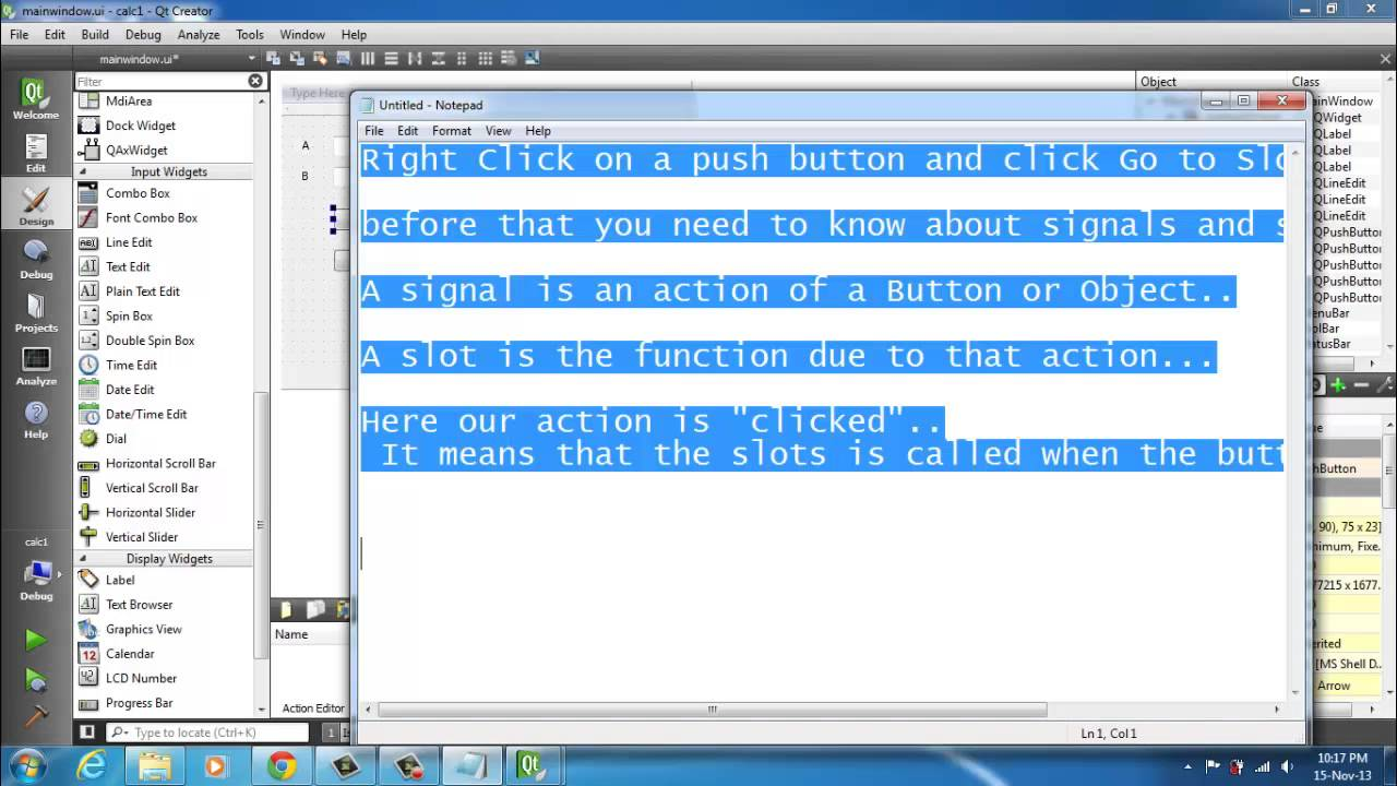 Simple qt creatorgui c tutorial making a calculator app youtube simple qt creatorgui c tutorial making a calculator app baditri Images