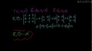 Producto mixto dadas las componentes - Álgebra - Educatina