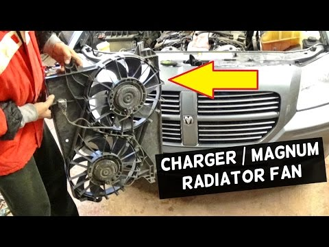 DODGE CHARGER RADIATOR FAN REPLACEMENT REMOVAL DODGE MAGNUM - YouTubeYouTube