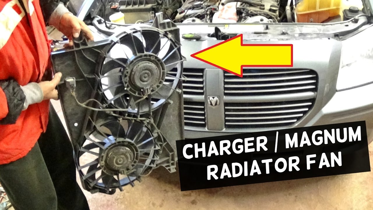 small resolution of dodge charger radiator fan replacement removal dodge magnum