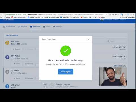 How to transfer bitcoin from Coinbase to Trezor