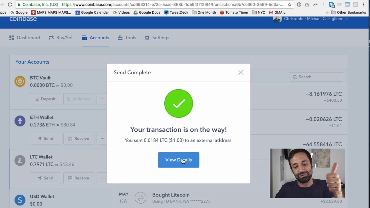 how to move cryptocurrency offline from coinbase