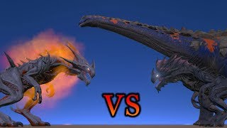 Alpha Reaper King VS Reaper Queen & Titanosaur || ARK || Cantex