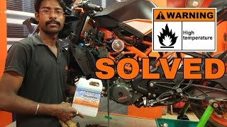 STAY COOL ON KTM 390//HEATING SOLUTION OF RC390// COOLANT CHANGE GUIDE//ENGINE ICE COOLANT