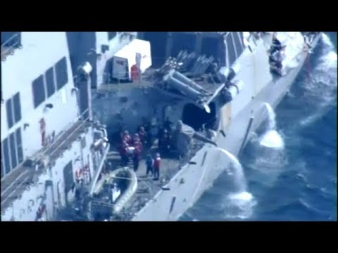 7 U.S. Sailors Missing After Navy Missile Destroyer Collided With Philippines Cargo Ship!