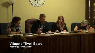 Village of Tivoli Board of Trustees Meeting 10/16/2019