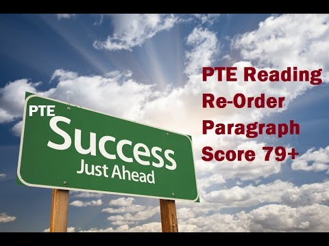 PTE Reading test Strategy to Reorder paragraph To Score high 79+ by Bharat bhushan