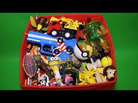 Red Toy Box: Action Figures, Cars, Dinosaurs and More