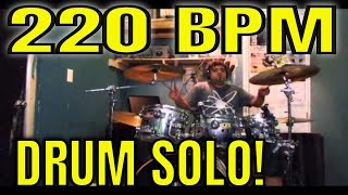 INSANE DRUM SOLO | Revolution in Speed Skate Punk @ 220 BPM | Greatest Ever of all time!! Dave Grohl