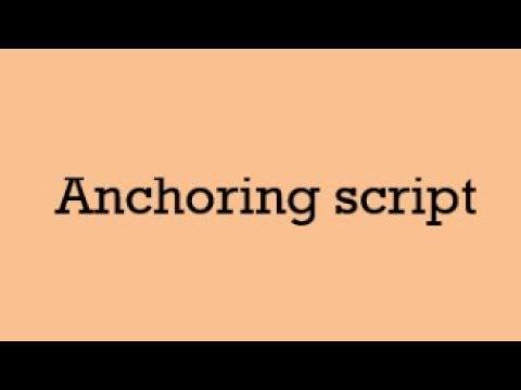 Formal Anchoring Script for  Seminar