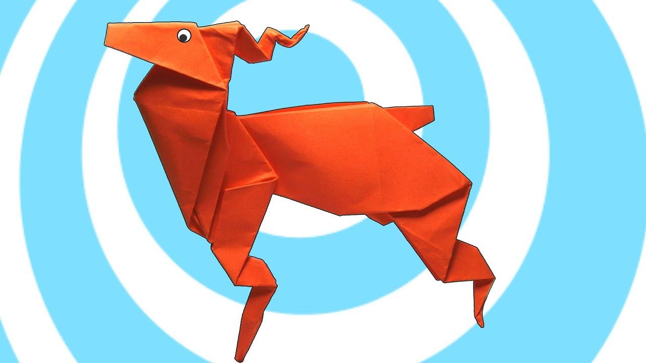 How to make Paper Reindeer: Easy Origami Reindeer Instructions | 720x1280