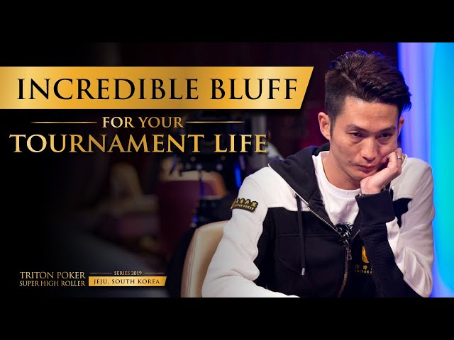 Incredible Bluff for your Tournament Life | Triton Poker 2019