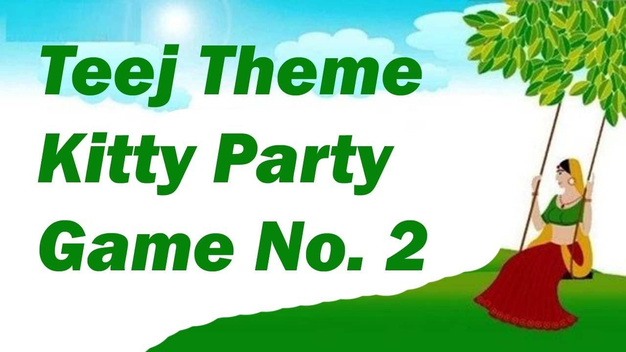 Teej kitty party game for ladies kitty party  Teej Paper Games ...